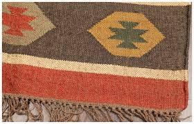rugsville flatweave tribal diamond multi wool jute kilim rug 183 x 280
