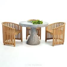 round concrete outdoor table round concrete table with teak tub chair outdoor dining set 0 concrete top outdoor coffee table