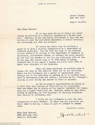 letter from amelia earhart offering advice to year old aspiring  amelia earhart who was 36 at the time she penned the note included specific