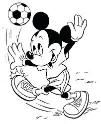 Mouse Coloring Mickey Mouse Playing Soccer Coloring Page Minnie