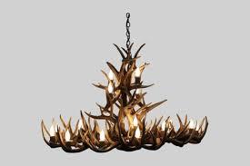 oval white tail deer antler chandelier
