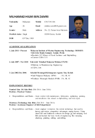 Resume Sample Malaysia 2014 Resume Ixiplay Free Resume Samples