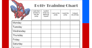 Potty Training Chart Boys Free Character Chart For Boys