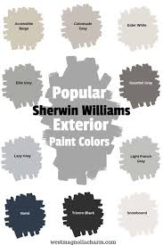 popular sherwin williams exterior paint
