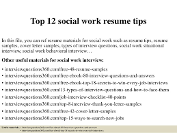 Brilliant Ideas Of Social Worker Resumes Okl Mindsprout For Your