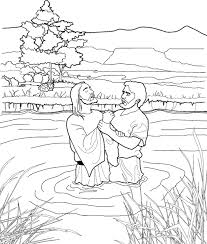 Small Picture John Baptizing Jesus Coloring Page