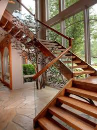 Wooden Stairs Wood Staircase Design The Home Design Eclectic Staircase  Design