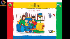 caillou game find gilbert