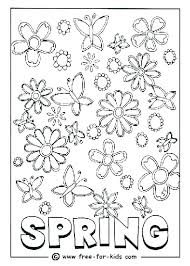 Free Spring Coloring Pages To Print Spring Coloring Sheets For Kids