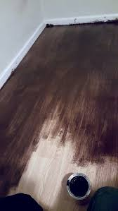 gel stain for laminate floors diy stain laminate floors yes laminate i bought gel stain from for 15 20 no prep at all i did a double coat of
