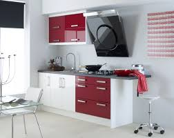 Red White Kitchen Kitchen Wall Design With Red Kitchen Decor Ideas And Brown Floor
