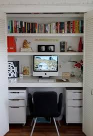 Remodelaholic | 25 Clever Closet Offices Perfect for editing | My little  House | Pinterest | Closet office, Clever and White closet