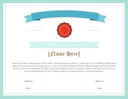 Blank Award Certificate Template Of Recognition Free