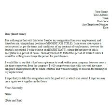 good letter of resignation formal resignation letter with unknown notice learnist org