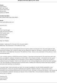 Resume Example Sample Cover Letter For Insurance Job Resume Cover