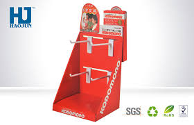 Cardboard Pop Up Display Stands Custom Corrugated Pop Up Cardboard Hook Display Box With Hook Cardboard Display