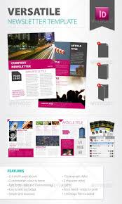 Free Newsletter Layouts Versatile Newsletter Template Newsletters Print Templates