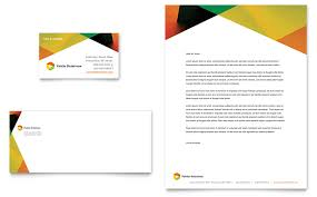 Public Relations Company Business Card Letterhead Template Word