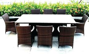brown wicker patio dining set home depot outdoor dining table home depot outdoor dining table brown