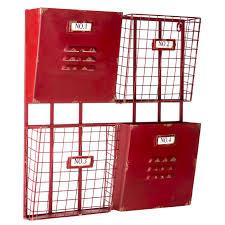 red 4 pocket metal wall shelf hobby