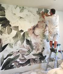 blush fl wall mural large fl wallpaper from anewall