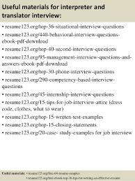 Top 40 Interpreter And Translator Resume Samples Stunning Interpreter Resume