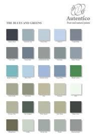 Autentico Vintage Color Chart Blue Green In 2019 Paint