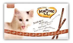 """<b>Лакомые палочки</b> """"<b>Мнямс</b>"""", для кошек, с <b>говядиной</b> и печенью, 10 ..."""