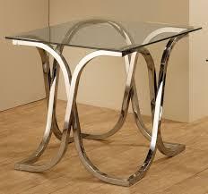 coaster 701917 end table chrome