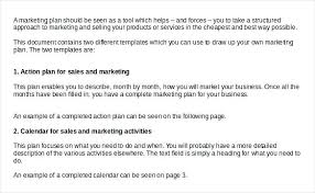 Example Sales Action Plan Sample Marketing Action Plan Template Sales And Example Asctech Co