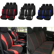 9pcs universal car seat covers full set front rear seat back head rest protector