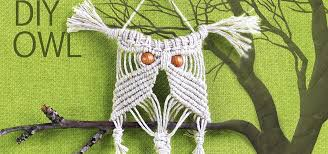 easy macrame owl wall hanger tutorial