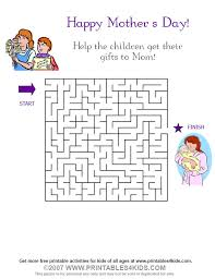 Small Picture Mothers Day Maze Printables for Kids free word search puzzles