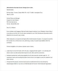 Cover Letters Career Change Resume Cover Letter A Examples Career