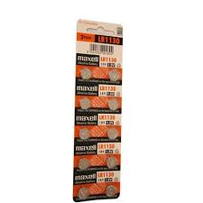 Lr1130 Battery Equivalent Chart Maxell Watch Battery Button Cell Lr1130 Ag10 Pack Of 10