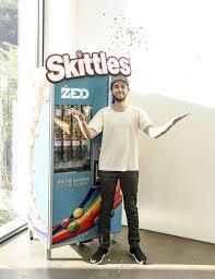 Skittle Vending Machine Custom The Best Housewarming Gift Zedd Receives A Skittles Vending Machine