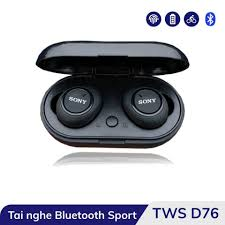 Tai Nghe Bluetooth Sony TWS - D76 Bluetooth 5.0 - Bass Hay, Âm Thanh Cực Ấm  - Bảo Hành 6 Tháng giá cạnh tranh