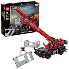Lego 42082 Rough Terrain Crane Technic Amazon Co Uk Toys Games