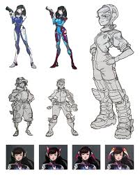 Dva Concept Design D Va Early Concept From Overwatch Character Design