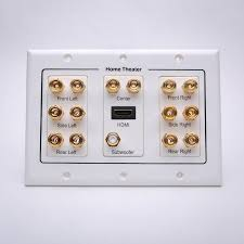 home theater wall plate. 7.1 home theater wall plate with hdmi + subwoofer image 2 c