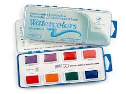 Underglaze Decorating Colors Watercolors Set 110 Underglaze Decorating Set 110