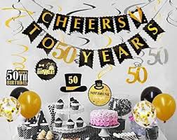 This makes for a light hearted and fun theme for any 50th birthday party. 50th Birthday Party Decorations For Men Etsy