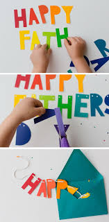diy father s day banner and card this card is easy to make by kids for