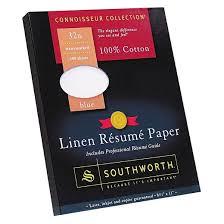 Southworth Cotton Linen Resume Paper - Blue