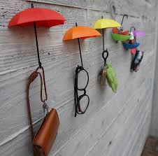 diy home decor decoration umbrella wall hook wall stickers for children kids rooms sungl bag organizer