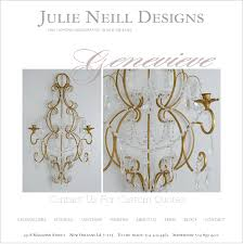 i m dying over this gorgeous new candle sconce from julie neill in new orleans so feminine i am really hoping to be able to make it to julie s next