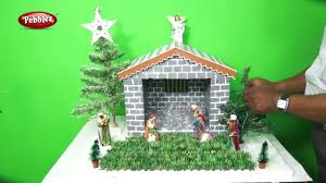 Christmas Crib Design Ideas How To Make Easy Christmas Crib Nativity Scene Christmas Crib Making In Malayalam Type 1
