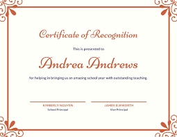 Sample Of Appreciation Certificates 5 Free Certificate Of Recognition Template Sample With