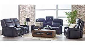 hampden 3 seater powered leather recliner sofa