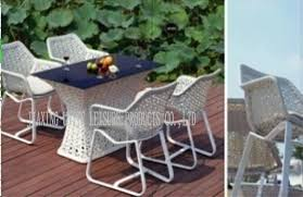 china white garden table and chairs set rattan garden furniture sets 5 pcs supplier